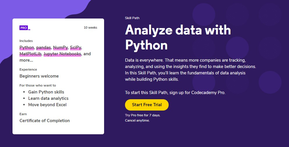 analyze data with python