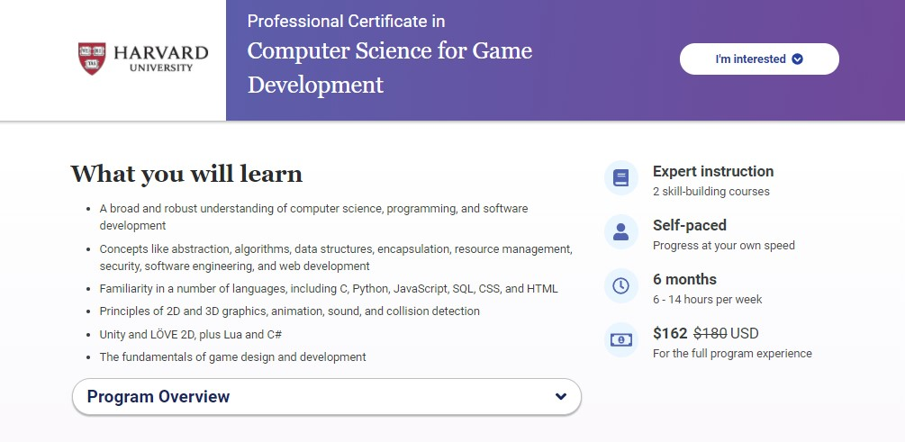 computer science for game development