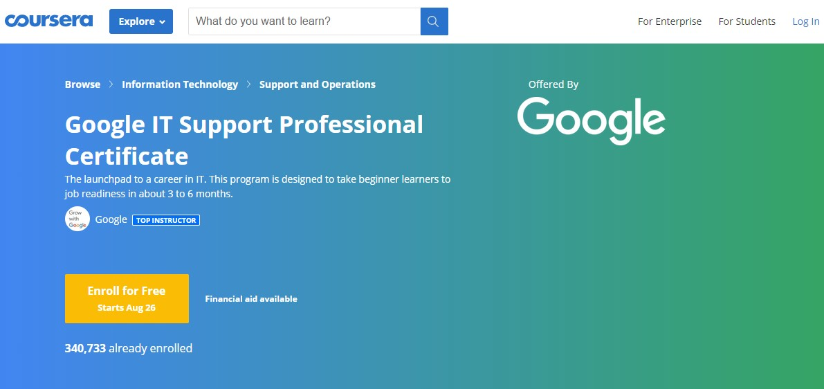 google it support certificate