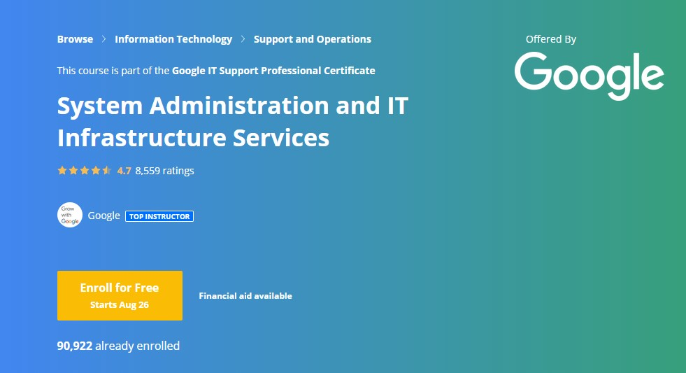 system administration and infrastructure