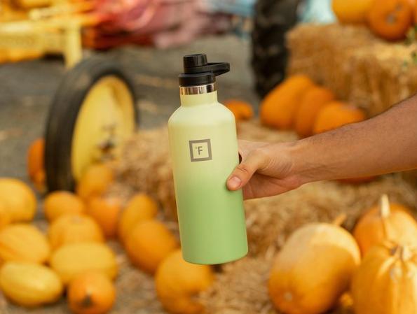 iron flask green bottle