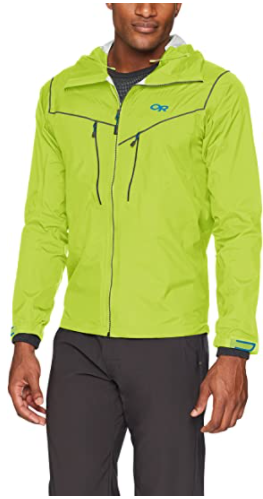 outdoor research realm ski jacket green