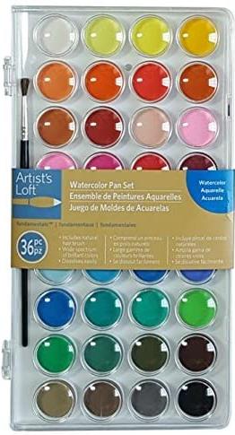 36 Color Fundamental Watercolor Pan Set