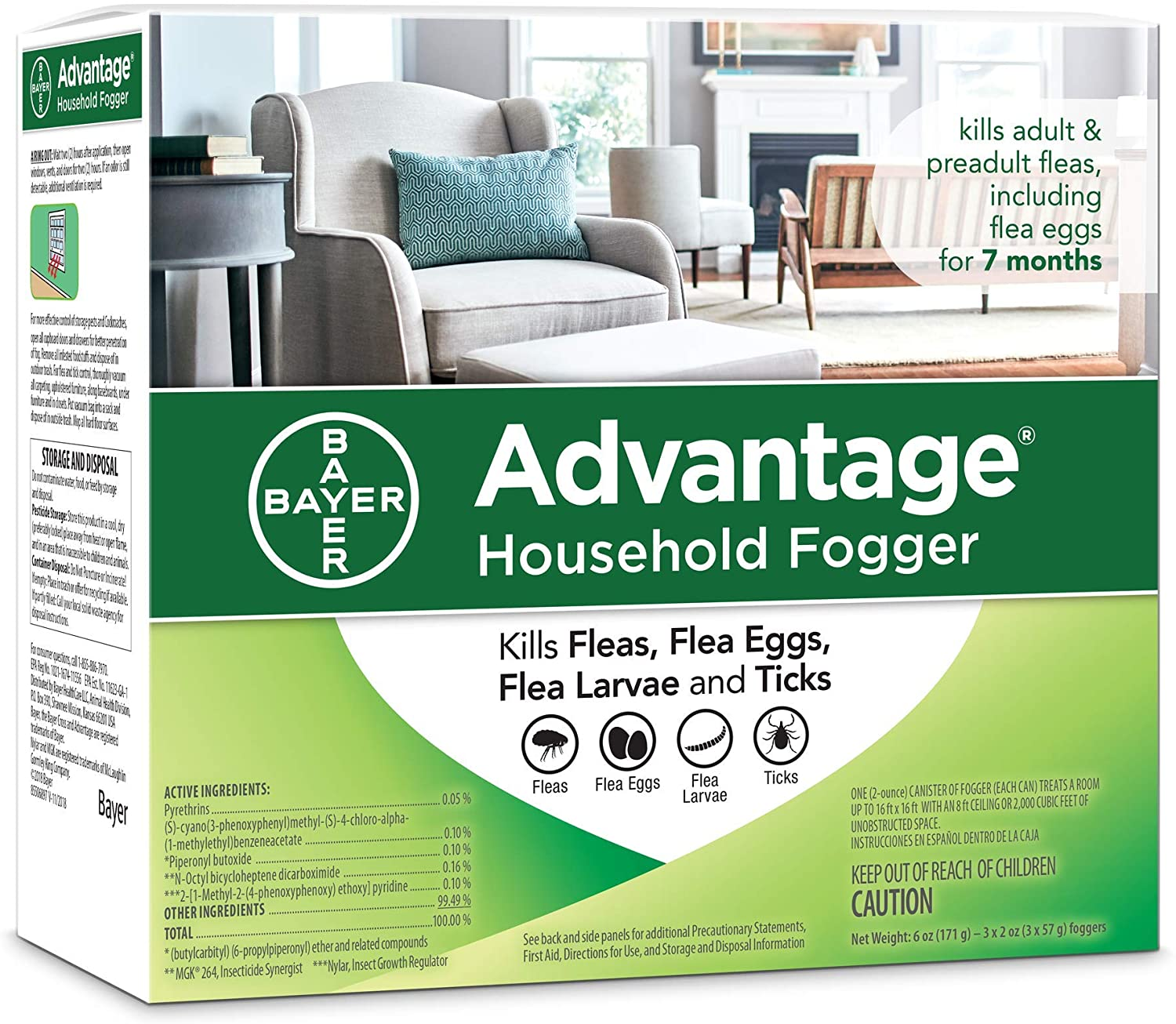 Advantage Flea and Tick Household Fogger
