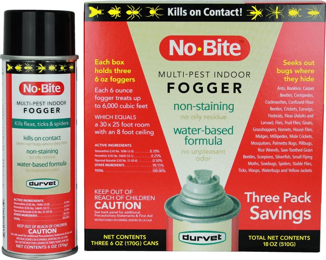 Durvet 011-1135 No-Bite Multi-Pest Indoor Fogger