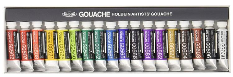Holbein artist Gouache Set