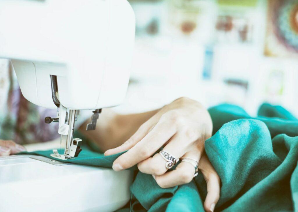 Woman Sewing Machine