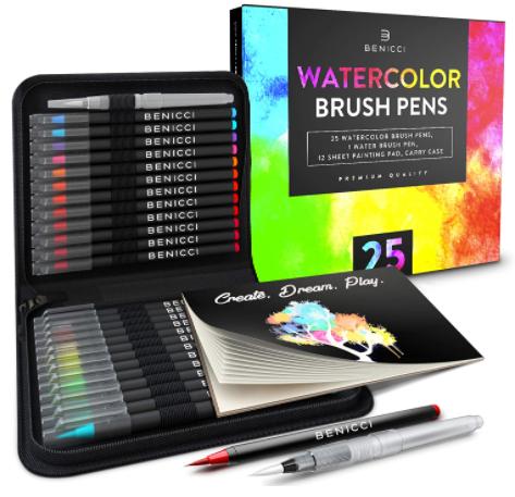 artist watercolor brush pens