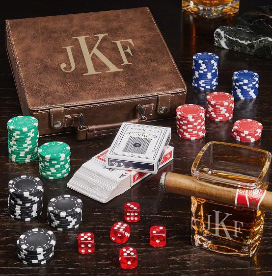 classic monogram poker set