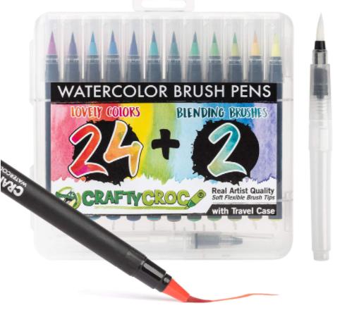 crafty croc watercolor brush pens
