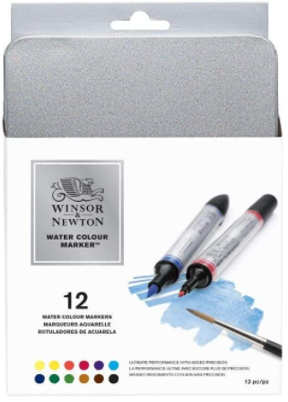 winsor and newton water color brush markers