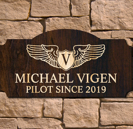 wooden sign for pilots