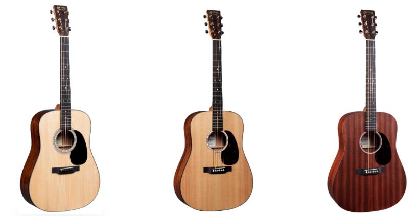 Martin Road Series Guitars