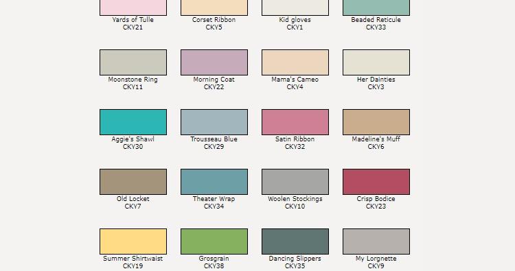 Valspar Available Colors