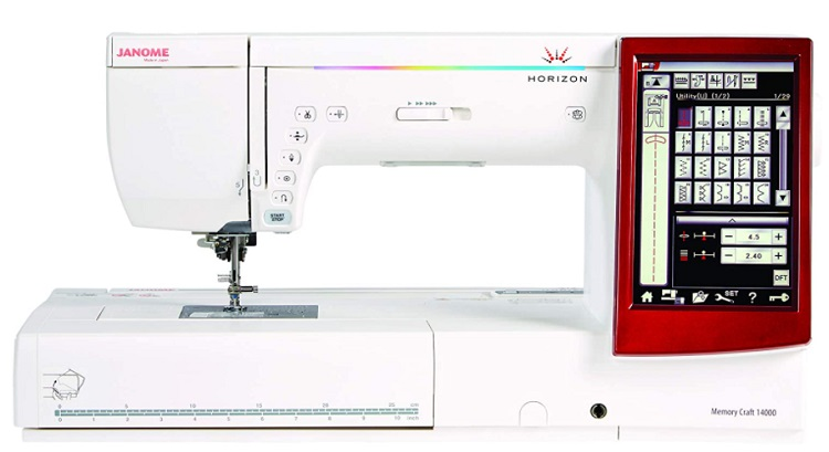 Janome Memory Craft 14000 Sewing and Embroidery Machine