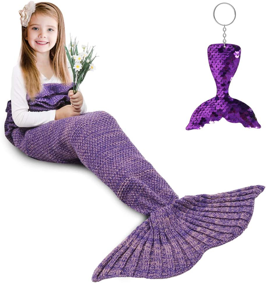 Best Gifts for 9 Year Old Girls Mermaid Tail Blanket