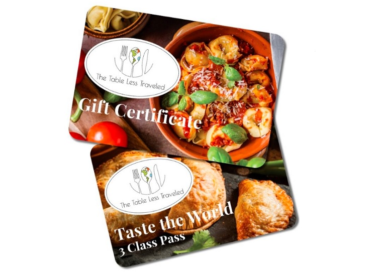 The Table Less Traveled Virtual Cooking Class Gift Cards