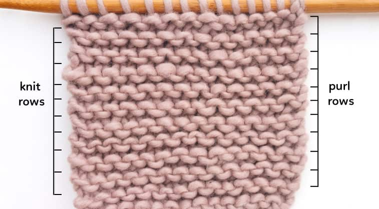 garter stitch knitting